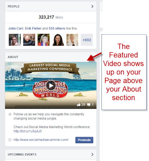 social media examiner feature video on facebook page margin