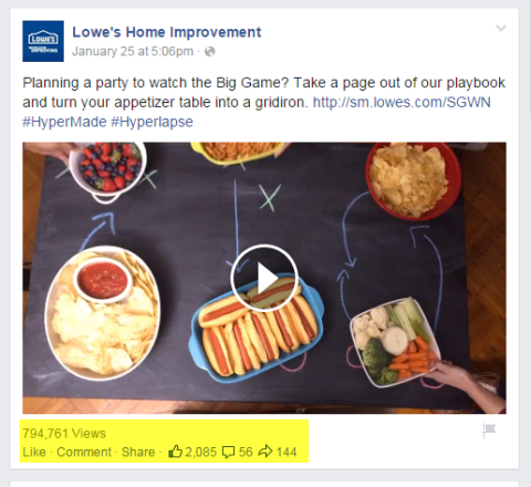 lowes home improvement video post on facebook