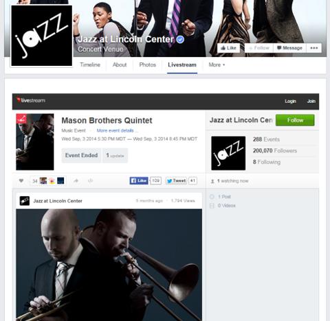 livestream facebook tab