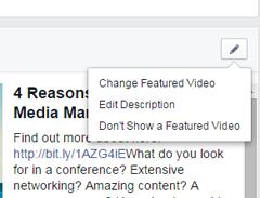 set a featured video