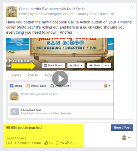 social media examiner video post on facebook
