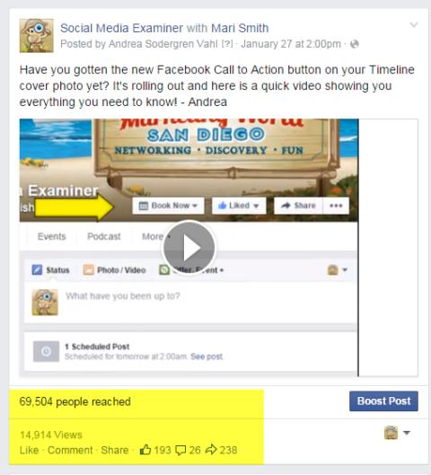 social media examiner video post on facebook