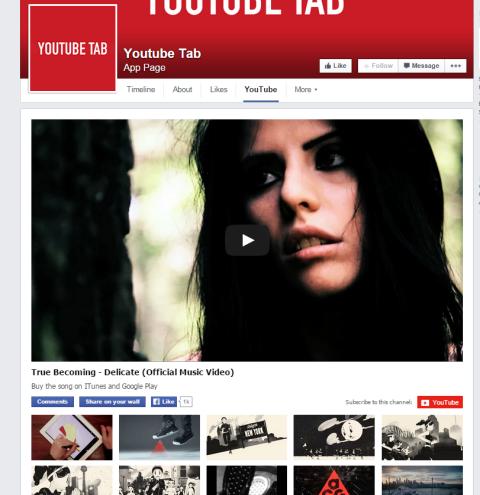 youtube facebook tab