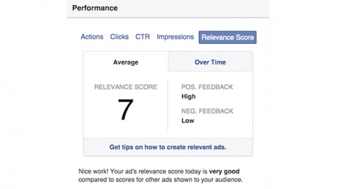 """""""Relevance score is calculated based on the positive and negative feedback we expect an ad to receive from its target audience."""""""