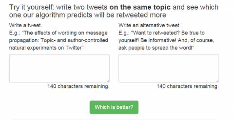 """An algorithm predicts which version of the """"same"""" announcement an author should choose to get more attention."""
