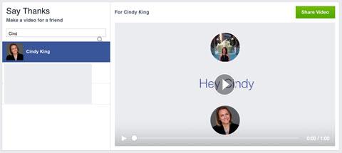 facebook thank you video