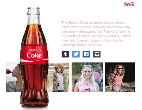 coca-cola share a coke campaign image