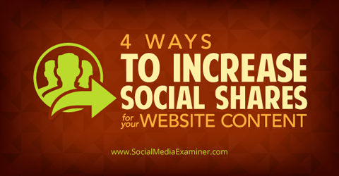 increase social shares of website content