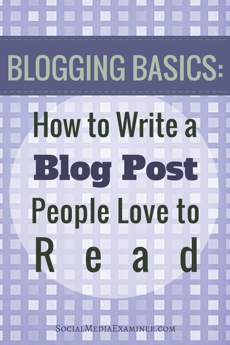 basics of writing a blog post