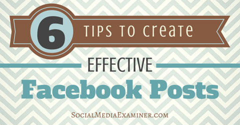improve facebook page post results