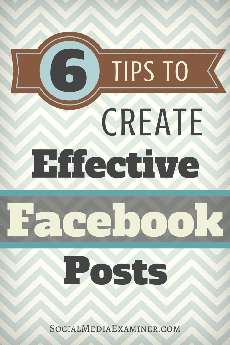 how to improve facebook page posts