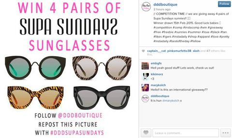 drop dead dollbaby boutique instagram contest image