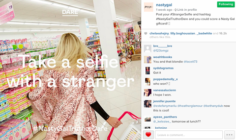 Nasty Gal Instagram screengrab