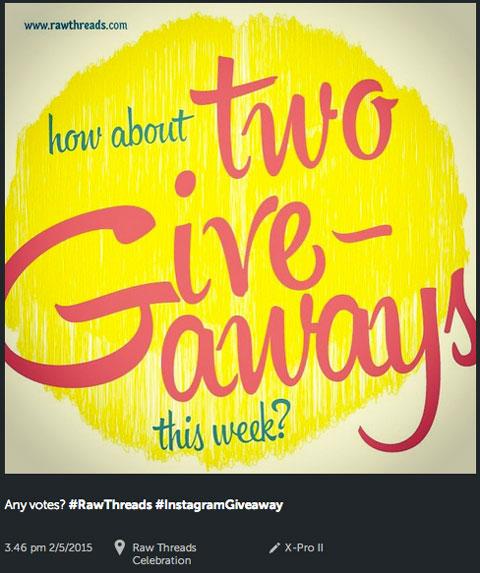 rawthreads instagram contest