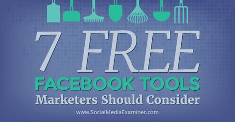 7 free facebook tools