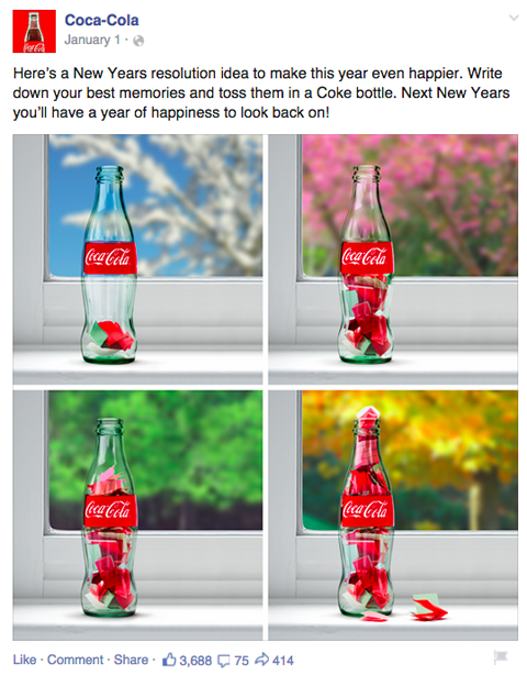 cocacola facebook post