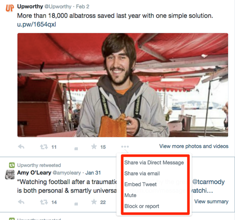 upworthy twitter engagement options