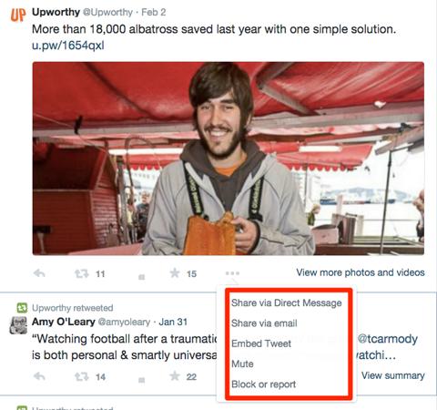 upworthy twitter engagement options