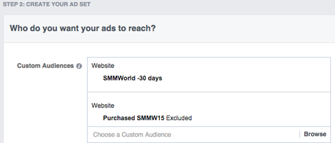 SMMW15 facebook ad set