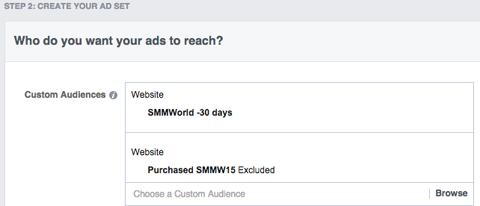 SMMW15 facebook ad set