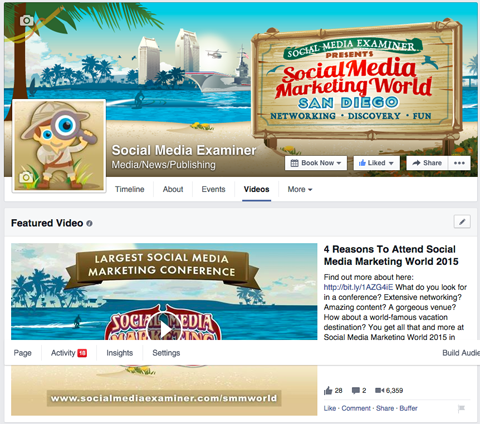 SMMW15 facebook featured video with link