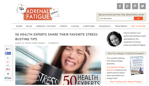 adrenal fatigue compilation article