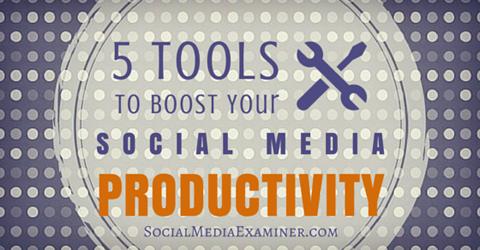 tools for social media productivity