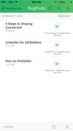 blog posts saved in evernote