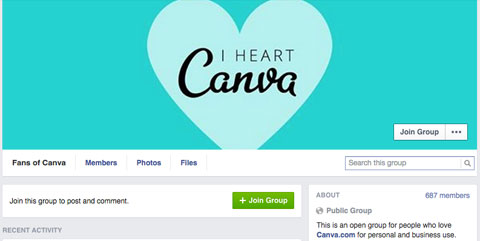 canva facebook group