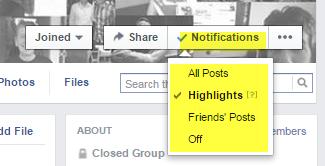 group notification settings