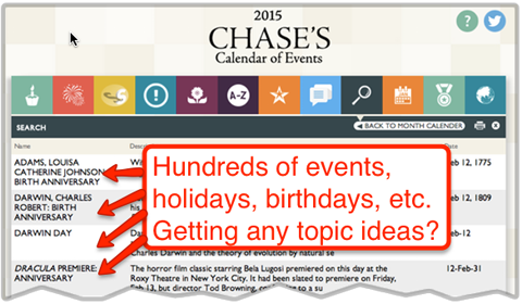 chases calendar of events