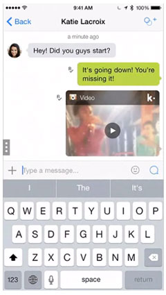 how to live video chat on kik