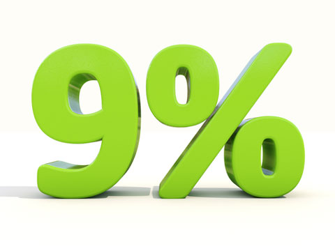 9 percent image shutterstock 177935564