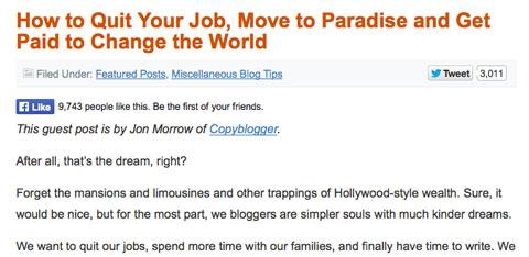 jon morrow headline on problogger