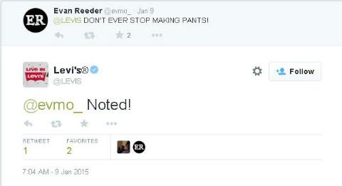 levis twitter response