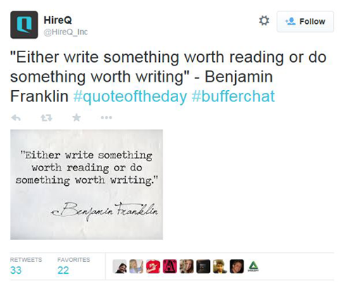 hireq quote bufferchat tweet
