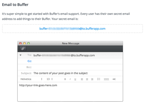 set up a buffer email