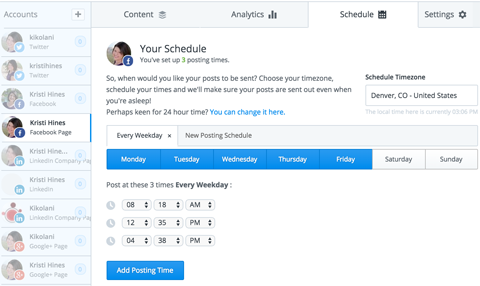 buffer scheduling set up