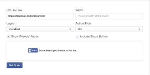 facebook like button creation