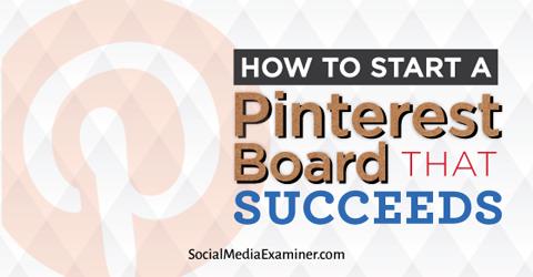 start a pinterest board
