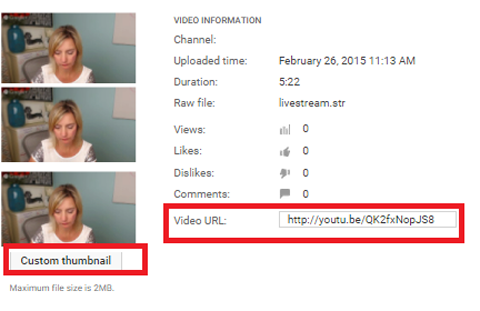youtube video permalink