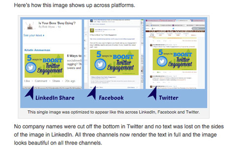 social media examiner image optimization article