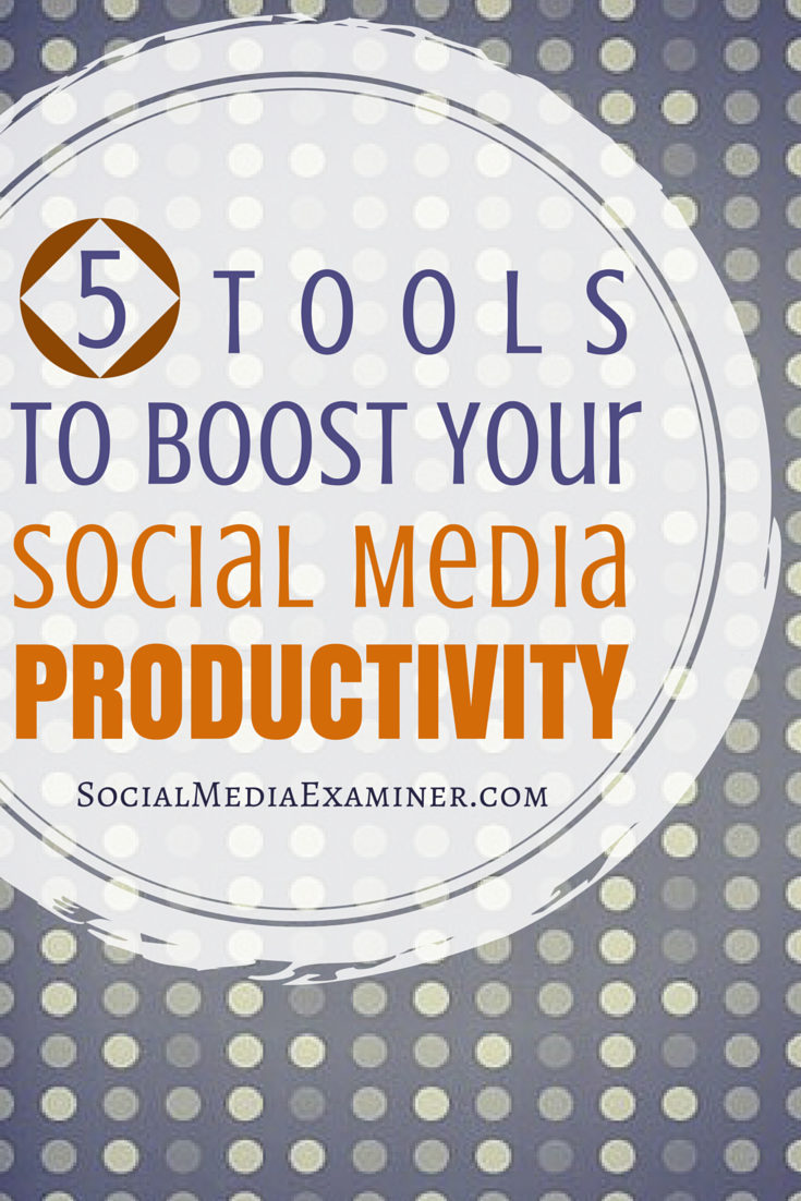 how to boost social media productivity