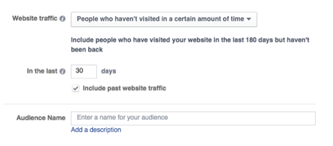 custom audience preset option