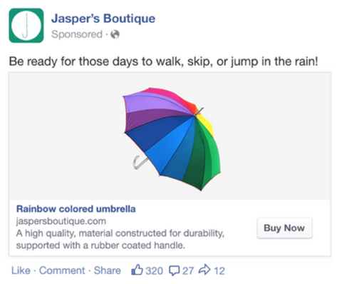 dynammic facebook ad example