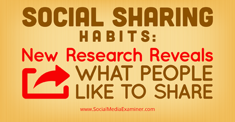 social sharing research