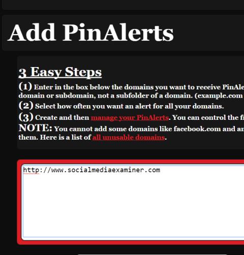 pinalerts app