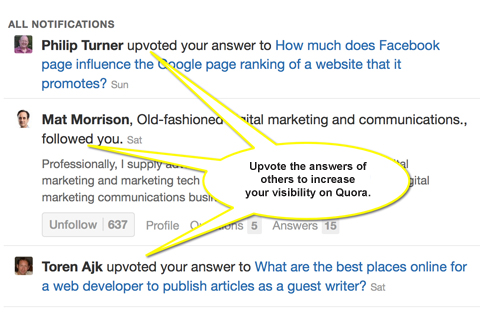 upvoted answers on quora