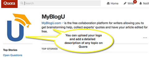 customize your profile on quora