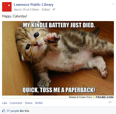 lawrence public library facebook post